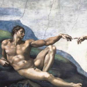 Michelangelo 1508-1512 Aatamin luominen