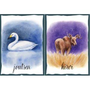 Eläinkortit teksteillä - mystinen luonto