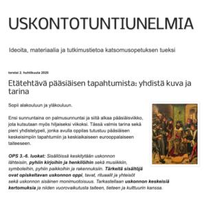 Pääsiäisen tapahtumat: yhdistä kuva ja tarina (alakoulu, yläkoulu soveltaen)